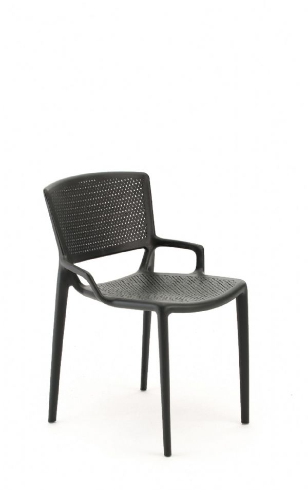 Pledge Daisy Stackable Four Leg Chair With Perforated Seat And Back With Arms